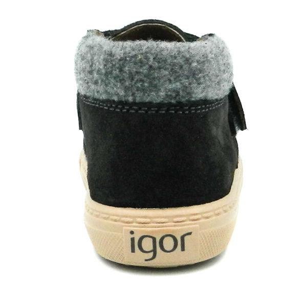 Igor W10198-134 Ανθρακί Μποτάκι
