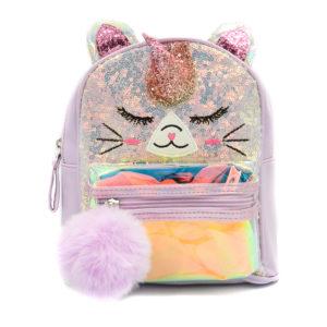 Παιδική τσάντα πλάτης Β011 Μονόκερος Μωβ